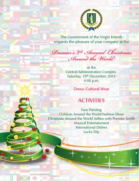 to join premier of the virgin islands dr the honourable d orlando smith obe in the third annual premiers christmas around the world a celebration - Christmas Around The World Decorations For A Party